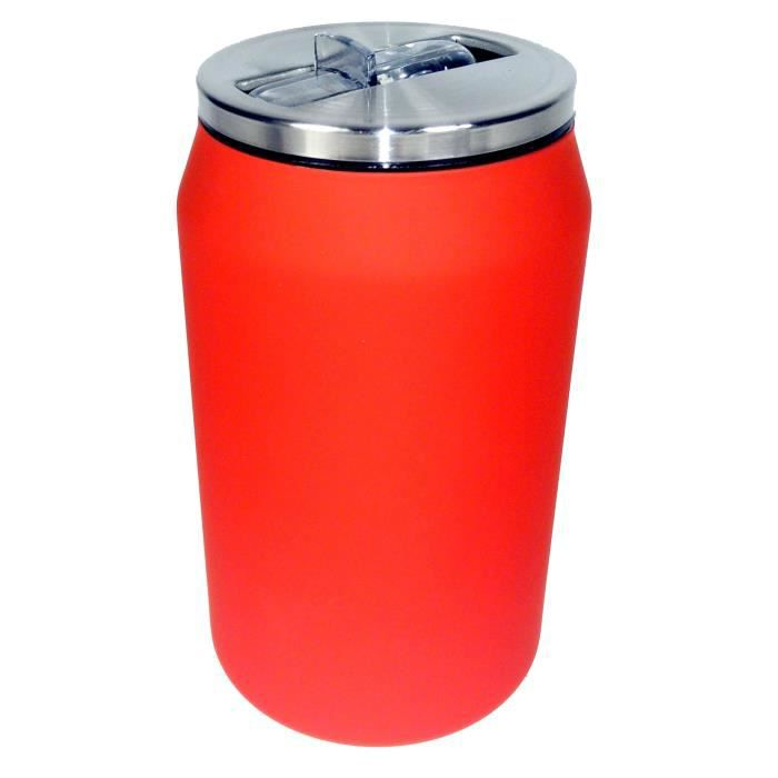 YOKO DESIGN Canette isotherme 280 ml - Rouge mat