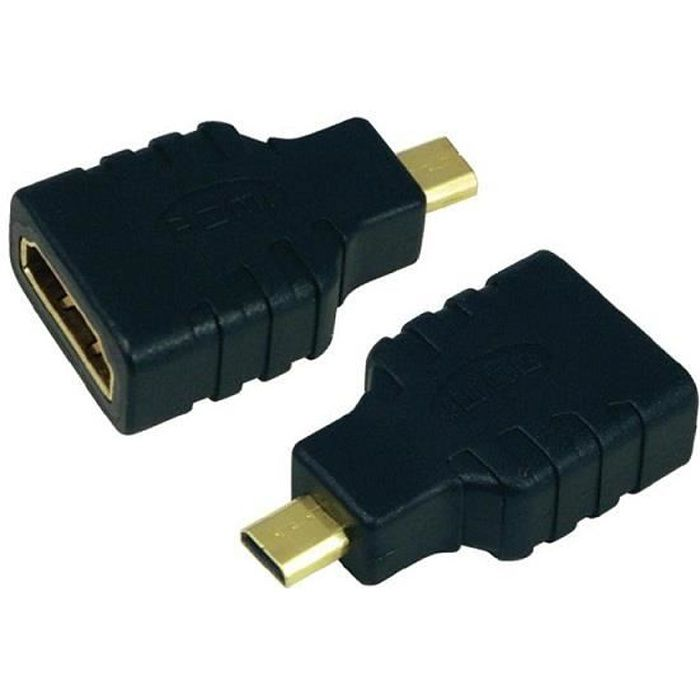 raccord adaptateur hdmi femelle vers micro hdmi id c ble. Black Bedroom Furniture Sets. Home Design Ideas