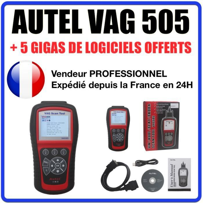 autel vag 505 voiture scanner valise diagnostique obd obd2. Black Bedroom Furniture Sets. Home Design Ideas