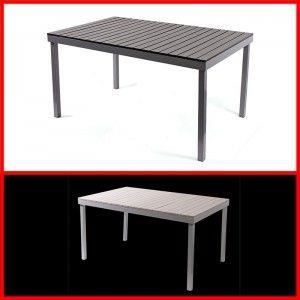 table de jardin m91 140x86x72cm aluminium plastique blanc achat vente table de jardin table. Black Bedroom Furniture Sets. Home Design Ideas