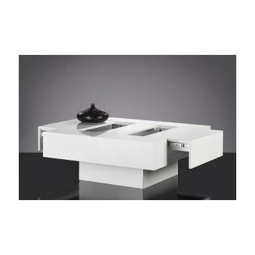 Table basse design de salon s jour carr e yol achat vente table bass - Table basse design carree ...