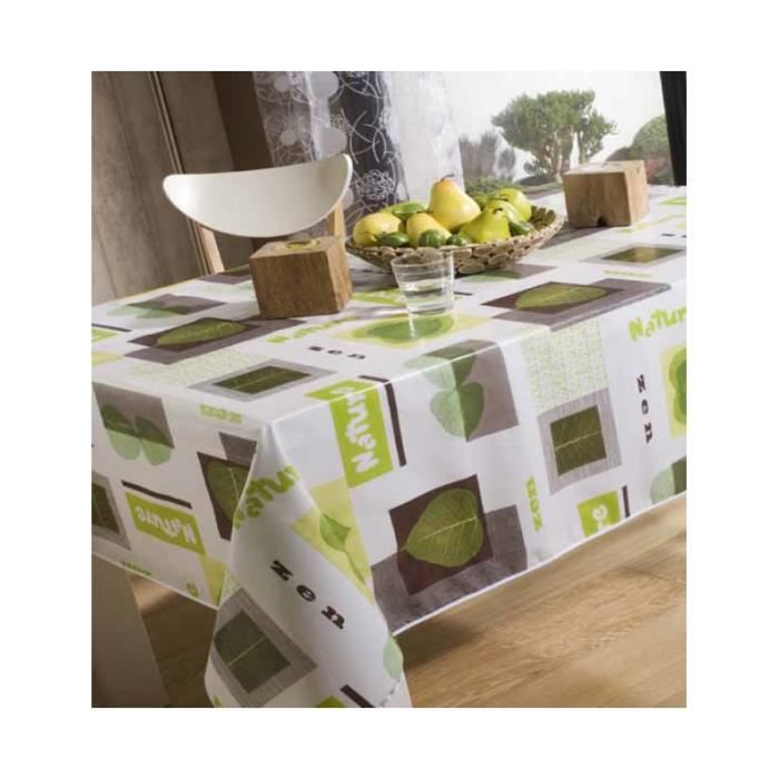 toile cir e rectangulaire 140 x 250 cm nature achat vente nappe de table cdiscount. Black Bedroom Furniture Sets. Home Design Ideas