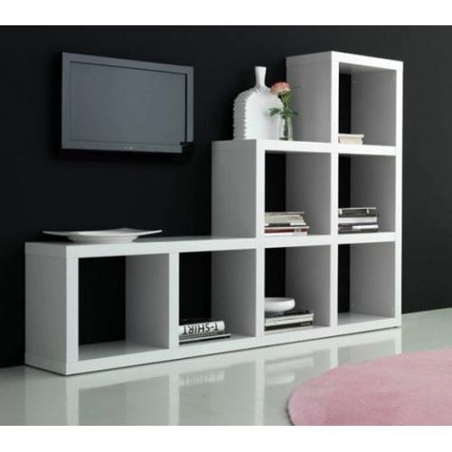 biblioth que escalier contemporain blanche achat vente meuble tag re biblioth que escalier. Black Bedroom Furniture Sets. Home Design Ideas