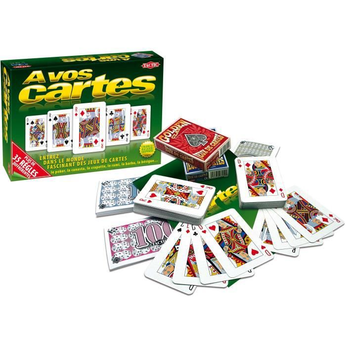 A Vos Cartes 02090 Jeu De Societe Jeux De Cartes Tactic Achat Vente Cartes De Jeu Cdiscount