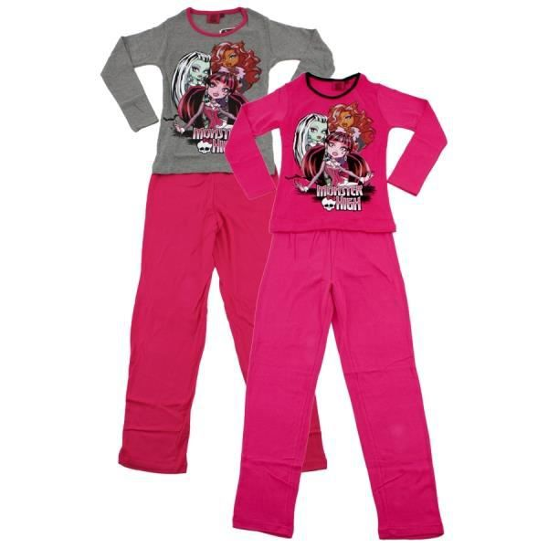 monster high pyjama rose pantalon noir 12 ans rose. Black Bedroom Furniture Sets. Home Design Ideas