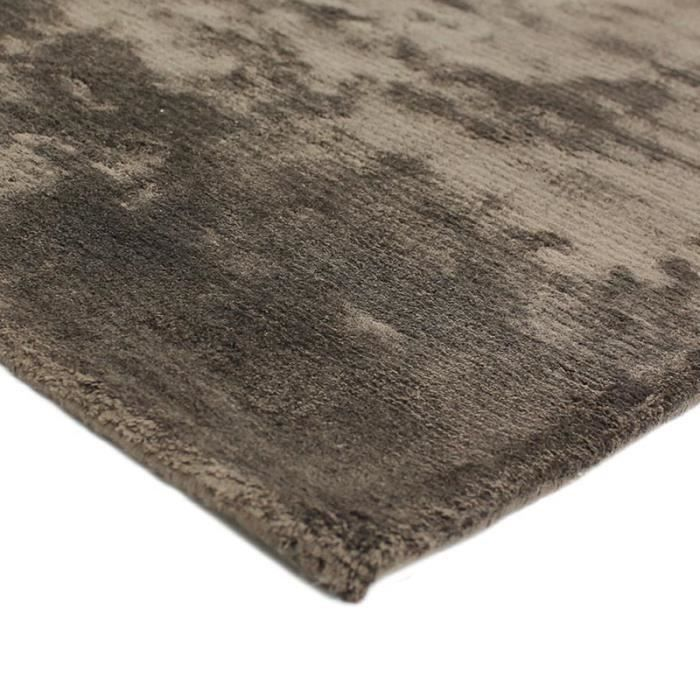 Tapis grand style art silk rug 133x190 champagne viscose achat vente tapis cdiscount for Grand tapis style industriel