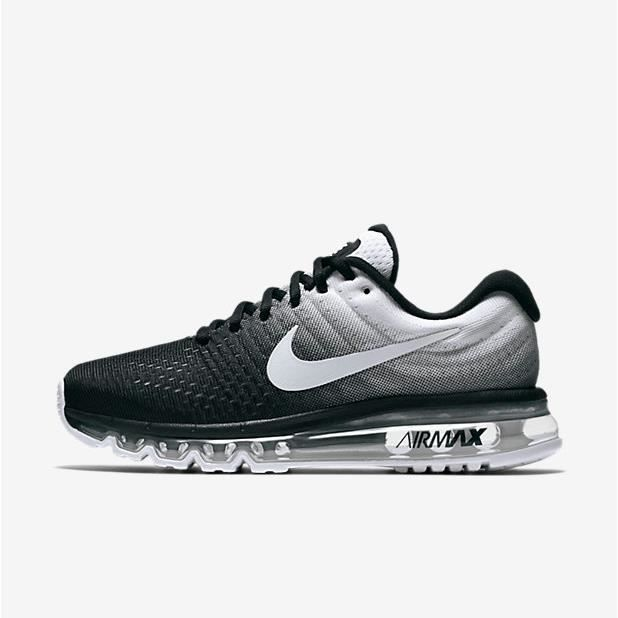 official photos 4704e 3cad2 Basket Nike Air Max 2017 Chaussures de running 84559-010 Femme Homme Noir  Blanc
