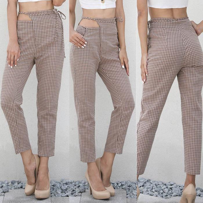 Pantalon Femme à Carreaux Pantalon Femme