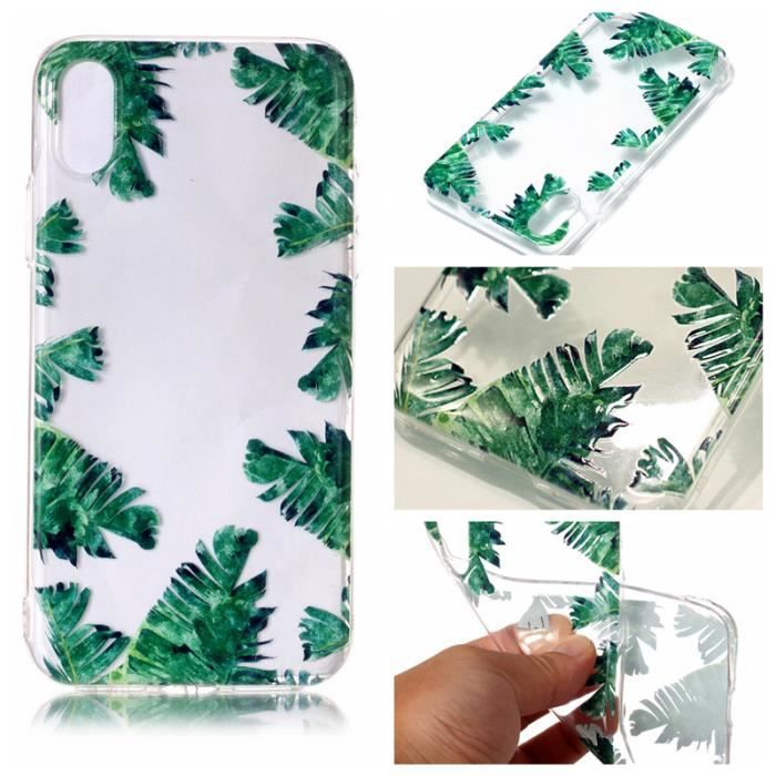 coque iphone 8 feuille bananier