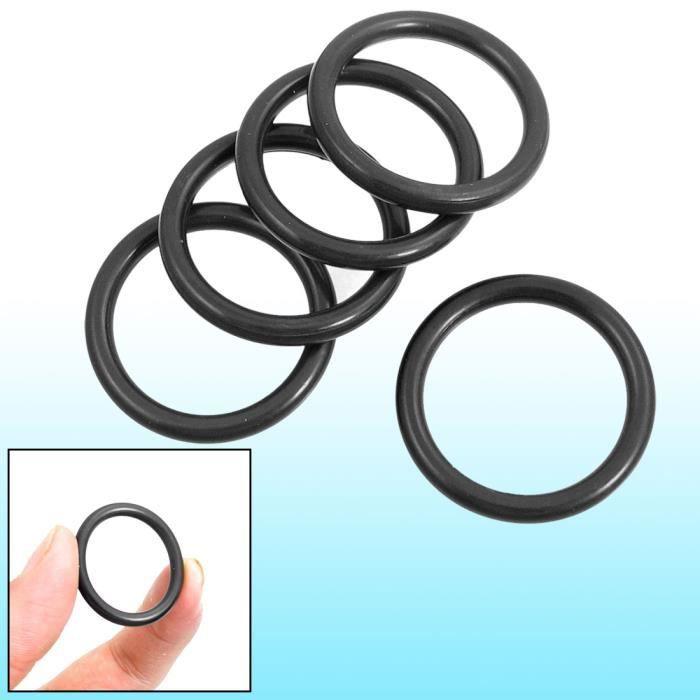 20 x 20 mm x 16 mm x 2 mm caoutchouc noir herm/étique joint de filtre rondelles