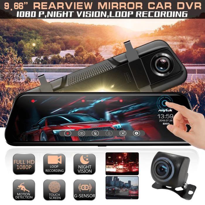 HD Voiture Dash Cam Cam/éra de Surveillance de Vision de Nuit /à lavant et /à larri/ère Recul Image int/égration Tableau de Bord Camera Recorder Double Objectif Enregistreur de Conduite