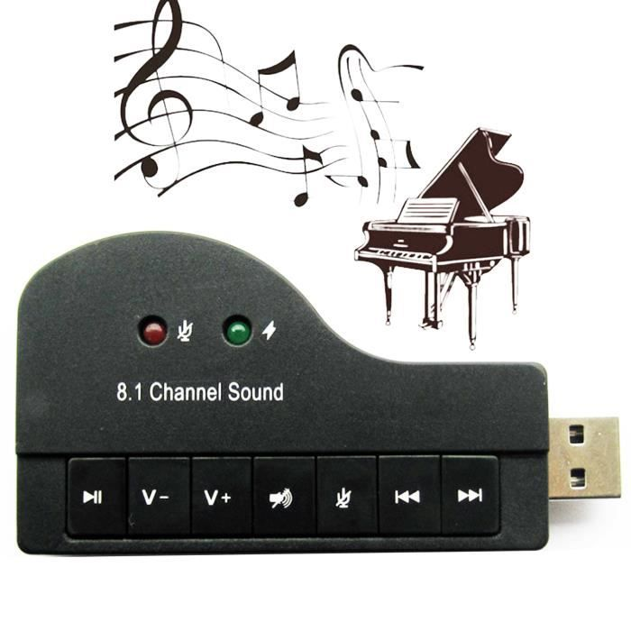 carte son externe usb 2 0 mini piano carte son usb pour. Black Bedroom Furniture Sets. Home Design Ideas
