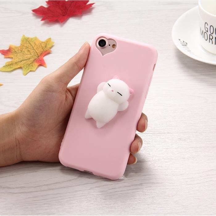 coque anti stress rose pour iphone 8 7 3d petit