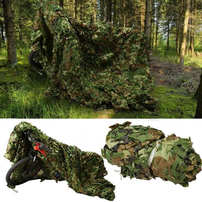2 X 3m Filet De Camouflage Militaire Pour Chasse Camping Jungle Décor Jardin Camouflage Net Camouflage Timesquare Cdiscount Sport