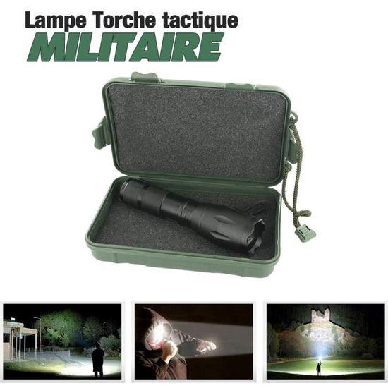 2x Forte Lumière militaire grade tactique lampe de poche avec 5 modes /& fonction zoom