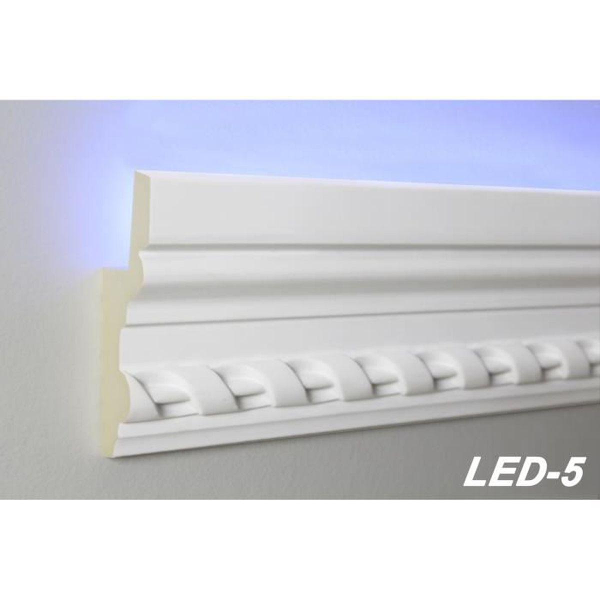 Corniche Polystyrène Pour Led corniche de plafond Éclairage indirect led-5 - achat / vente