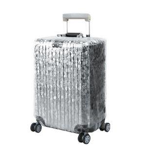 Transparent, 22 Pouces Anti-Rayures /Étanche Housse de Protection pour Bagages PVC Transparent Protecteur de Bagages de Voyage Protecteurs de Housse de Valise Grande /étanche /à la poussi/ère