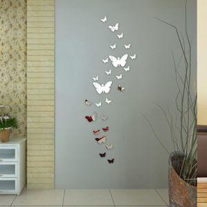 OBJET DÉCORATION MURALE Miroir autocollant mural papillon Décor bricolage