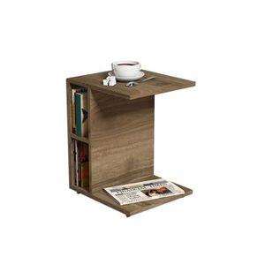 TABLE D'APPOINT Bout de canapé Ceylin - L. 45 x H. 57,5 cm - Marro