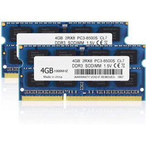 MÉMOIRE RAM 8 Go Kit (2x4GB) PC3-8500 DDR3 RAM DDR3 1 066 4 Go