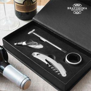 COFFRET SOMMELIER Coffret Accessoire Vin Inoxydable : Tire Bouchon,