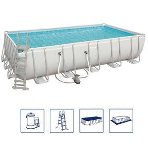 PISCINE Bestway Jeu de piscine Power Steel Rectangulaire 6