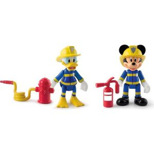 FIGURINE - PERSONNAGE MICKEY Pack De 2 Figurines Mickey & Donald Pompier