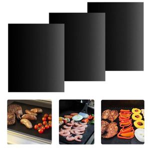 20x Réutilisable Barbecue Grill Cuisson Tapis Anti-Adhésif Tapis De Cuisson Liner Cuisson Feuille FDA