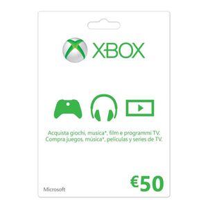 JEU XBOX ONE Xbox Live - Gift Card 50 Euro