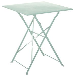 TABLE À MANGER SEULE Table de jardin pliante en acier coloris mint - Di