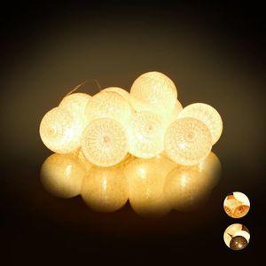 GUIRLANDE LUMINEUSE INT Relaxdays Guirlande Lumineuse LED, 10 Boules Coton