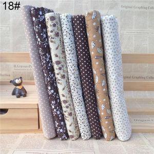 TISSU 7pcs piquer le tissu tissu de coton floral bricola