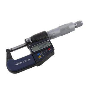 25/mm Microm/ètre m/étrique ext/érieur num/érique externe /électronique Jauge ing/énieur en acier carbone Outil de mesure