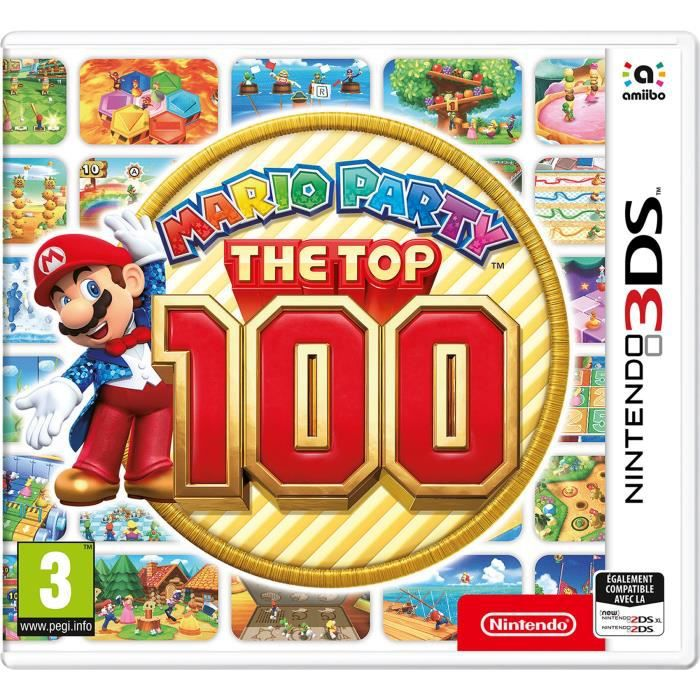 mario party the top 100 jeu 3ds achat vente jeu new 3ds 3ds xl mario party the top 100. Black Bedroom Furniture Sets. Home Design Ideas
