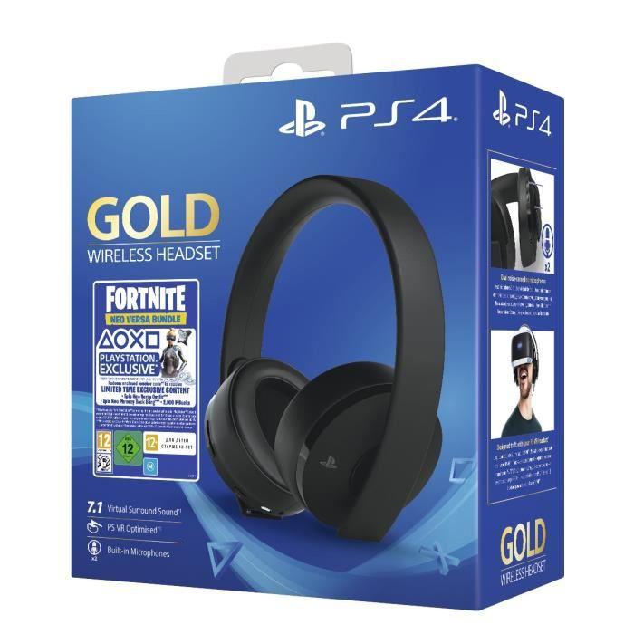 Casque Sans Fil Gold Black - Sony Virtual