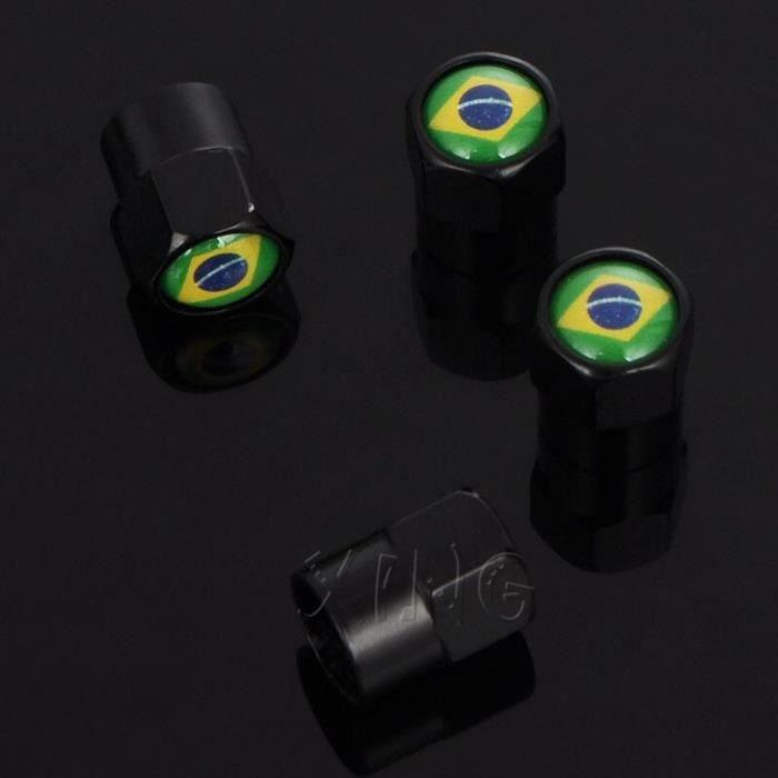 Couvercle de Port air de BMW Chevrolet 4 pièces-ensemble de voiture brésilienne, Valve de jante, bouchons de tige XL71104233