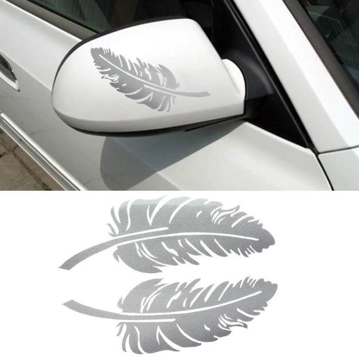 Cunibert®Nouvelle plume Design sticker 3D décoration pour voiture rétroviseur latéral WH CGW50530429B