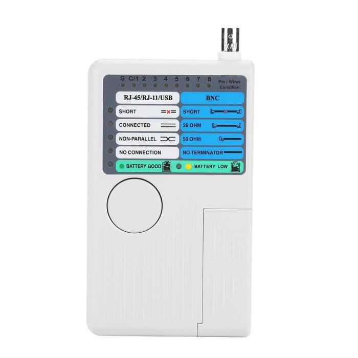 4 en 1 Portable Lan Cable Tester Remote Rj11 Rj45 Usb Bnc Pour Cables Utp Stp Tracker
