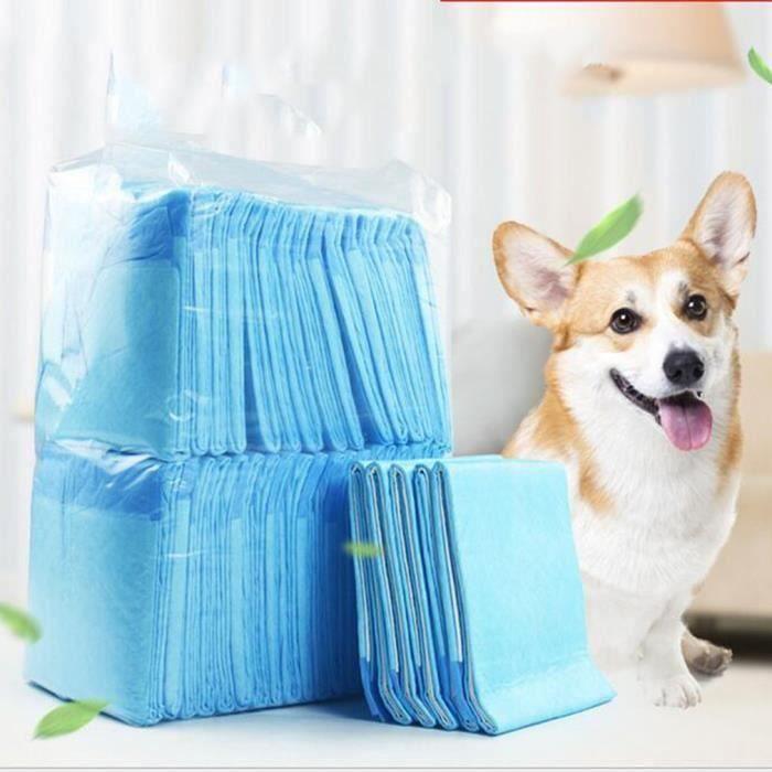 100pcs 60x45cm tapis educateurs pour les chiens chats super-absorbance apprentissage de proprete formation tapis alèse toilettes