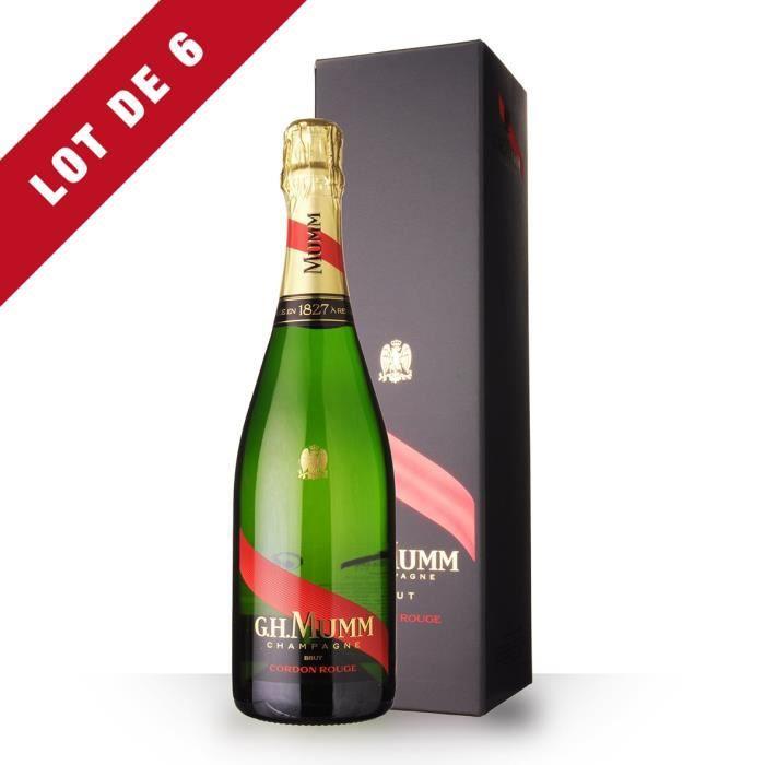 6X Mumm Cordon Rouge 75cl Brut - Etui - Champagne