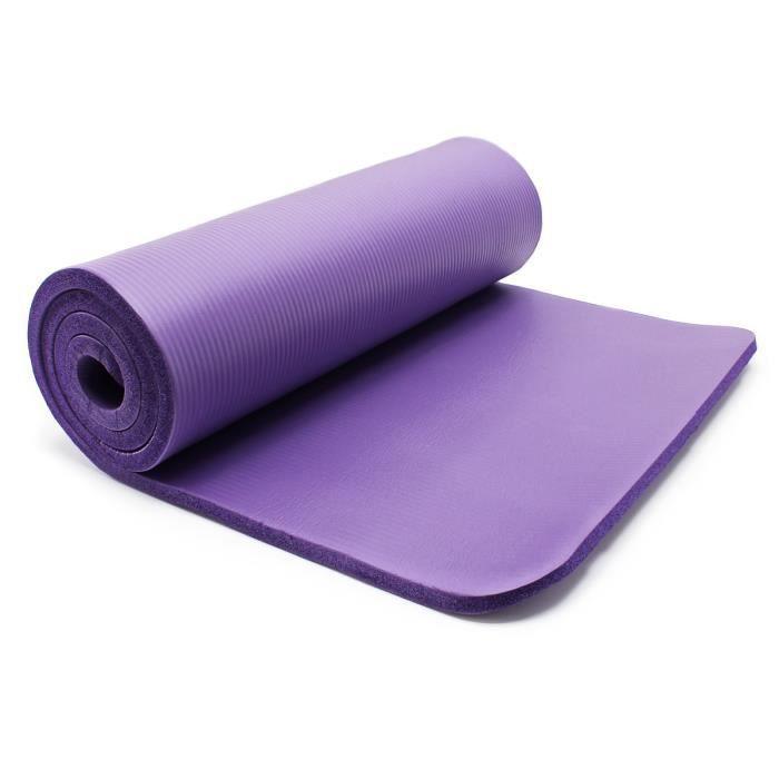 Tapis de yoga 180x80x1.5cm physio fitness aérobic gym pilates matelas antidérapante extra épais - 30309