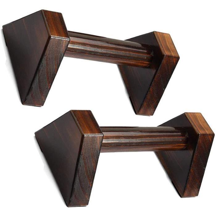PUSH UP BARS d'exercice en Bois Push Up Bar Support pour Pompes avec Conception De Triangle Stable pour Gymnastique Yoga458