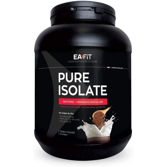 Vitamines, minéraux et compléments EAFIT Pure Isolate - 750g - 81% de Protéines - Faible en sucres et matières grasses - 770435