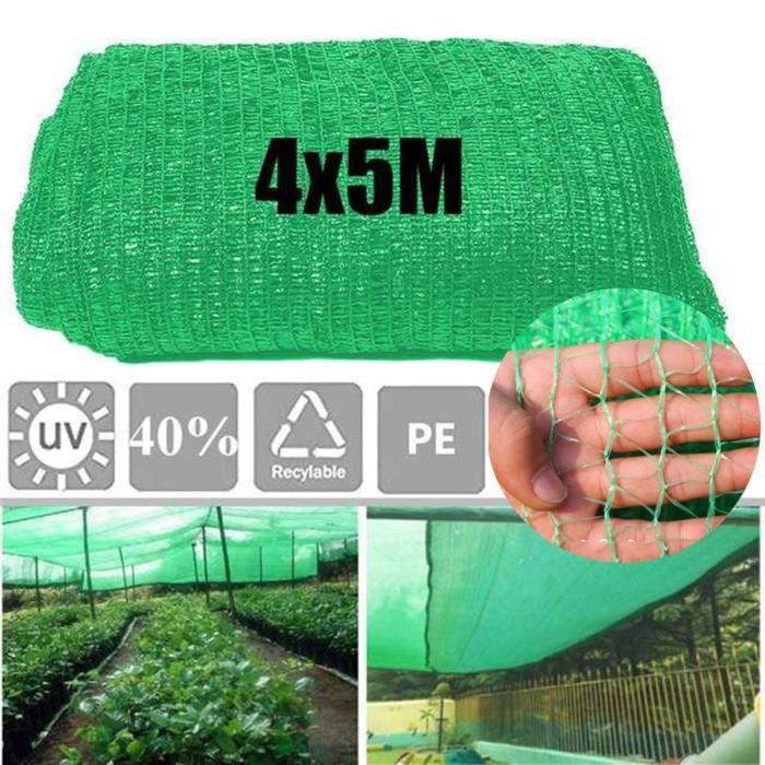 4 x 5 m Filet de Protection Jardin pour Bassin en Maille Protection des Fruits Plantes Cultures Anti-UV