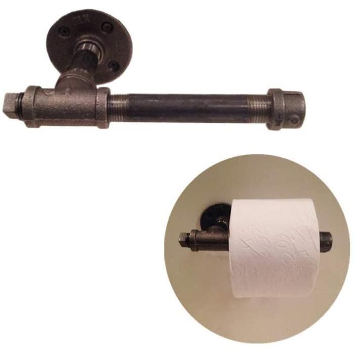 SERVITEUR WC KANKOO Porte Rouleau Papier WC Mural devidoir Papier WC Noir Rouleau de Papier Toilette PorteRouleau de Toilette et701