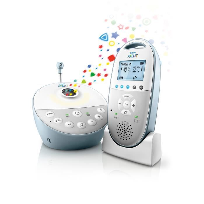 PHILIPS AVENT Babyphone Audio Veilleuse DECT SCD580/00