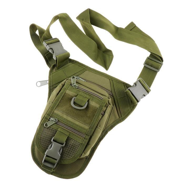 Sac de Taille Sac D'escalade Imperméable à L'eau Camouflage pour Camping armée verte