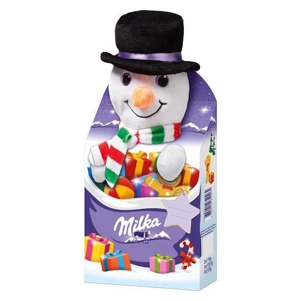 Milka Magic Mix -Bonhomme de neige- animal en peluche Noël 96g