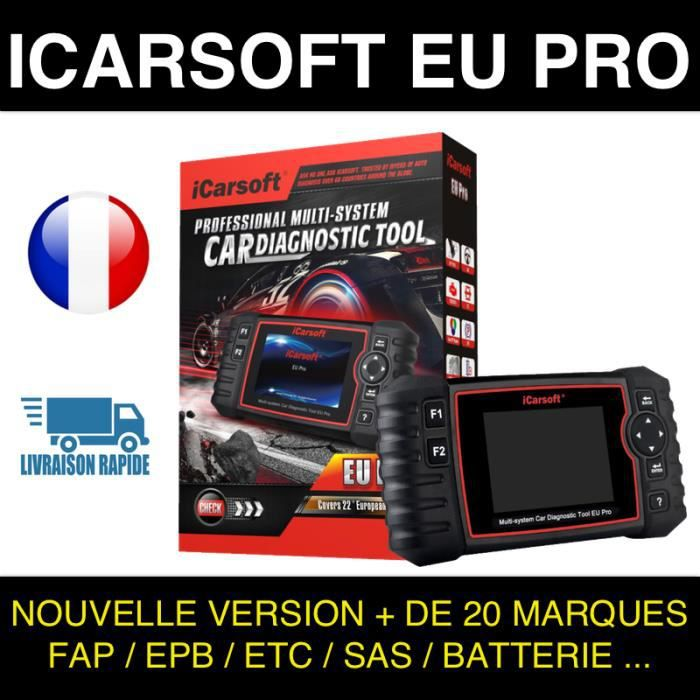 ✅ Valise de diagnostic PRO AUTHENTIQUE ICARSOFT EU PRO CAN CLIP DIAGBOX