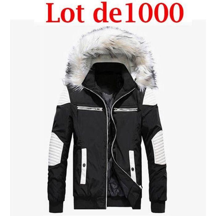 Manteau homme Parka long pour manteau de Marque zippé Manteau Épaissir Longue section Vêtement Masculin manteau homme